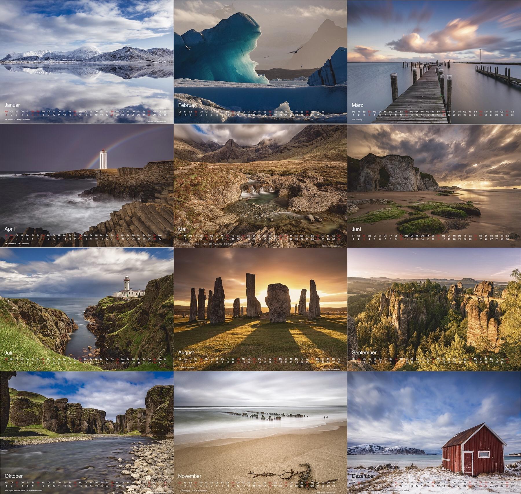 Pure Nature - Kalender 2018